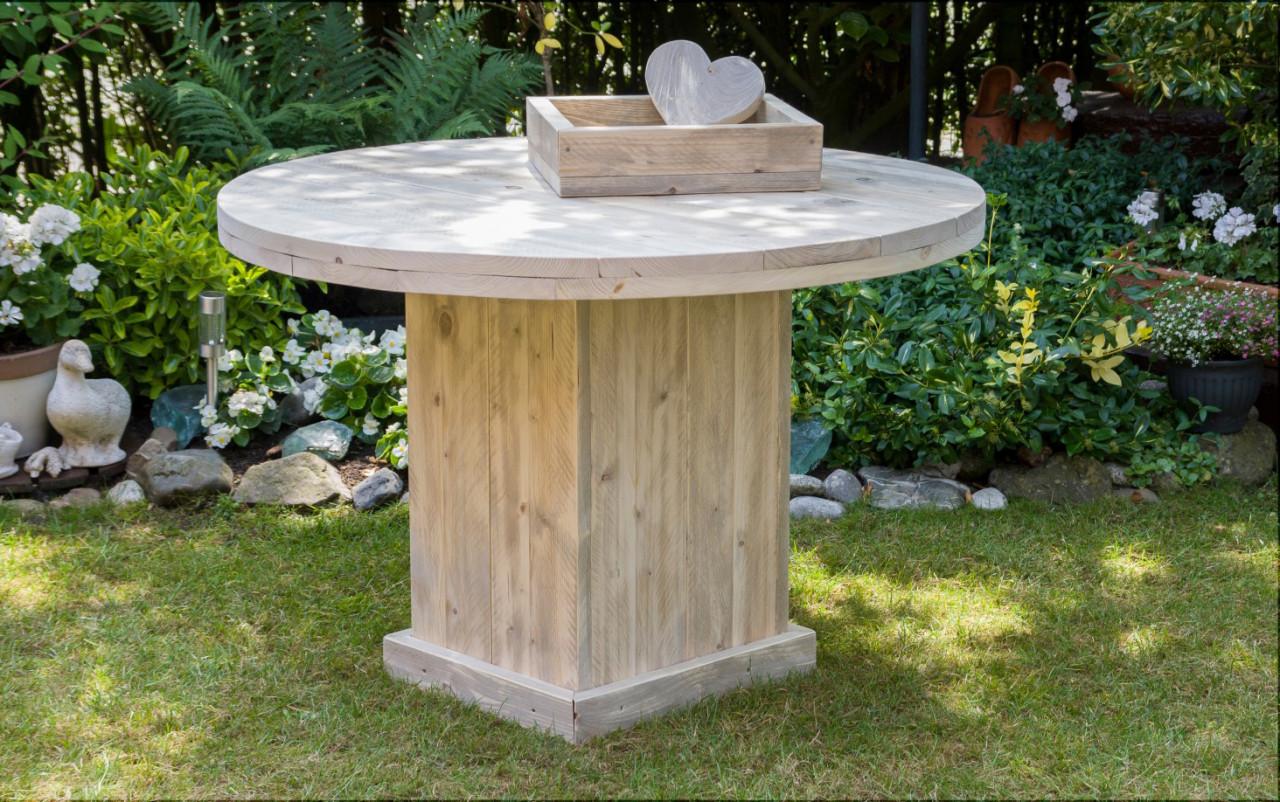 Ronde Tafel Steigerhout : Fabri nijmegen uw specialist in steigerhouten producten. tafels